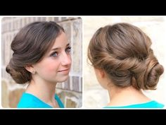 How to Create an Easy Twisted Updo | Plus Exciting Announcement - YouTube