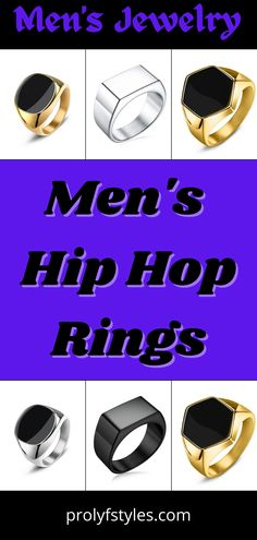 Create a fashionable men's look with this stylish hip hop men's ring for men's trendy outfit idea. These classy rings are perfect to enhance men's classy styles. These trendy rings for men are stylish jewelry that are perfect accessories for nearly any men's ensemble. men's trendy jewelry, men's fashion accessories rings, mens jewelry rings for men, cool rings for men style, mens rings fashion vintage. #menstyles #mensfashion #menswear #fashion #fashionjewelry Superman Ring, Fashion Rings, Men's Fashion, Cool Rings For Men, Mens Stainless Steel Rings, Men's Jewelry Rings, Rings Online, Stylish Jewelry, Black Rings