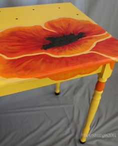 Hand painted table by TheArtsyPaintedChair on Etsy