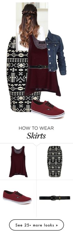"""""""The skirt"""" by rae1997 on Polyvore featuring Boohoo, Vans, Kristina Ti, Lauren Ralph Lauren and Levi's"""