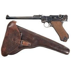 DWM 1918 Dated Artillery Luger Pistol with Holster. Luger Pistol, Revolvers, Fire Powers, Arm Armor, Cool Guns, Military Weapons, Guns And Ammo, Cool Items, Firearms
