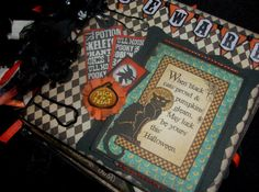 TPHH Debi Primitive HALLOWEEN Premade Book Mini Scrapbook Photo album Witch bos #mymindseye