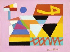1938 by Stuart Davis Poster 11x14 MUSEUM ART PRINT Swing Landscape