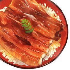 「土用の丑の日は鰻ですよ!」/「もみじ真魚」のイラスト