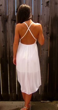White Low Back Dress Low Back Dresses, Vacation Outfits, Bank Account, Thinspiration, Playing Dress Up, Empty, Knot, Fill, Style Me