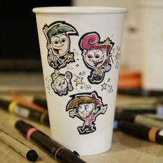 Nickelodeon Animator Uses Downtime To Create Coffee Cup Masterpieces