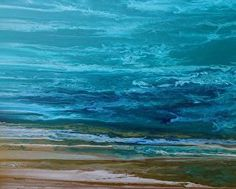 "In Motion IV by Coastal Living Art Acrylic ~ 24"" x 30""© Kimberly Conrad Coastal Living Art,Abstract Seascape Art,Contemporary Seascape Paintings, Abstract Beach Art,Coastal Home Decor,Coastal Art, ocean wall art"