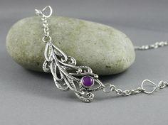 Keepsake jewelry. Sterling silver Peacock by nataliasjewellery
