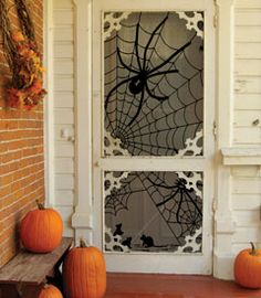 Spider Lace Window Panel at Chasing-Fireflies.com