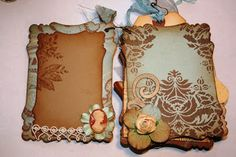 Shabby Beautiful Scrapbooking: Vintage Blue Botanical's Mini scrapbook album
