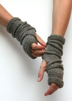 Knitting Pattern Wrap Gauntlets - #ad Fingerless mitts with featuring a wrapped i-cord for post-apocalypse style or cosplay or just for fun. tba easy mitt i-cord