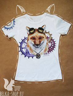 Steampunk Fox | Awesome Shirt | t-shirt t shirt women man by Belkashop on Etsy