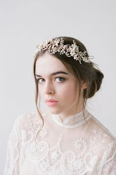 Wedding Hairstyles :   Illustration   Description   Macy Gold Bridal Hairpiece Wedding Accessories  by BrideLaBoheme    -Read More –   - #WeddingHairstyle https://adlmag.net/2017/12/10/wedding-hairstyles-macy-gold-bridal-hairpiece-wedding-accessories-by-bridelaboheme/