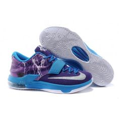 huge discount ec9a3 48d28 Buy New Brand Nike KD 7 Lightning Uprising Purple Blue Metallic Silver  Cheap To Buy from Reliable New Brand Nike KD 7 Lightning Uprising Purple  Blue ...