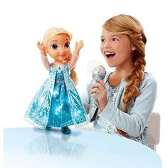 Frozen Sing Along Elsa with Light up Necklace Doll Disney Princess NEW Toys