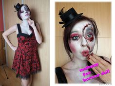 INKA blogger: Makeup for horror doll
