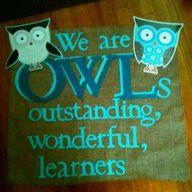 Owl Themed Classroom Bulletin Board   Owl themed banner for classroom