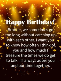 birthday wishes for brother - birthday wishes Happy Birthday Brother From Sister, Birthday Greetings For Brother, Happy Birthday Wishes For A Friend, Happy Birthday For Him, Birthday Wishes For Brother, Happy Birthday Wishes Images, Birthday Wishes Quotes, Birthday Messages, Brother Sister