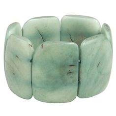 Polished tagua bracelet by the Andean Collection. One in every color, please.