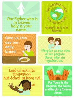 "The Lord's Prayer Poster for Kids. 18"" x 24"" Beautiful illustrations to help kids learn and understand. Perfect for kids room, Sunday School, Bible Classes, VBS, Children's ministry rooms, etc."