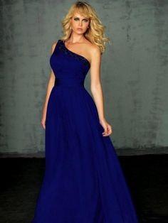 Sheath/Column One-Shoulder Beading Sexy Floor-length Chiffon Prom Dress
