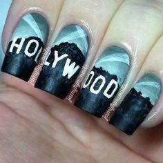 hollywood themed nail art