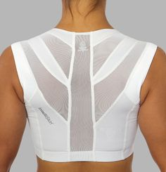 The IntelliSkin Sports Bra is the first of its kind that supports the front from the back. The bra corrects a woman's posture, making her look better, feel better, and perform better.