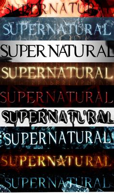 Supernatural background. They aren't in order....grrrr
