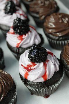 Vegan Local Blackberry Cupcakes by Short Street Cakes, via Flickr