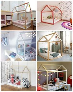 Cama montessoriana - ideias e dicas Baby Boy Rooms, Little Girl Rooms, Baby Bedroom, Girls Bedroom, Trendy Bedroom, Toddler Rooms, Toddler Bed, Kid Spaces, Kid Beds