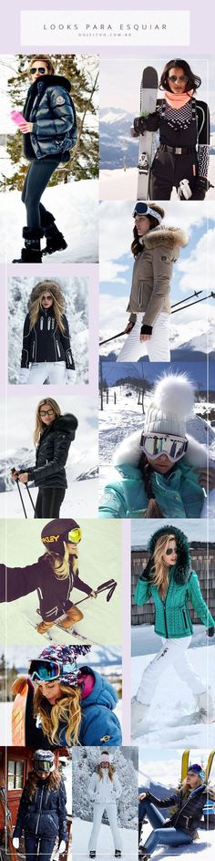 Inspirações de looks para continuar linda e estilosa na neve!
