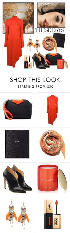 """""""romancing in the new year"""" by art-gives-me-life ❤ liked on Polyvore featuring Givenchy, Pringle of Scotland, Smythson, Hermès, Chloe Gosselin, ORMONDE JAYNE, Yves Saint Laurent and contestentry"""
