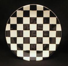 /\ /\ . checkerboard plate