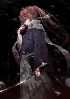 Animes Emo, Fanarts Anime, Anime Characters, Manga Anime, Kenshin Anime, Rurouni Kenshin, Anime Love, Anime Guys, Espada Anime