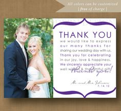 The Art Of Thank You Thoughts On The PostWedding Thank You Card - 4x6 thank you card template
