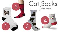There are so many awesome cat socks out there for the ladies, but what about the cat guys? Especially with the holidays coming up, I thought I'd round up some cat socks for men! Here's just the thing to keep his tootsies warm this winter. Above: 1) Grumpy Cat Short Socks from Too Loud $17.95;…