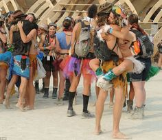 DAYS OF LOT: NEARLY 70,000 GATHER FOR WEEKEND OF DEBAUCHERY AT BURNING MAN FESTIVAL INNEVADA