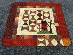 """Leigh Ann Thomas made """"Precious Threads"""" by Laural Arestad from our Summer 2012 back issue"""