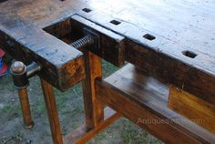 Tool Workbench, Workbench Designs, Lumber Storage, Tool Storage, Woodworking Bench, Woodworking Tools, Tool Bench, Education Architecture, Antique Tools
