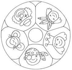 malvolage mutter   Ein Mandala mit fünf verschiedenen Verkleidungen für Karneval ...