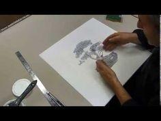 Cours beaux arts : Comment imprimer et transférer une image sur un support ? - YouTube