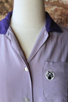 1950s Ladies League Bowling Shirt