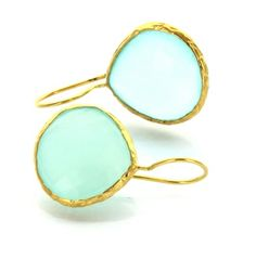 This aqua color is to die for!  http://www.majestical.com/Aqua-Pear-Earrings-p/2020v-aqchal-sc.htm