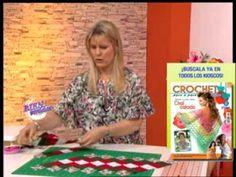 Carolina Rizzi - Bienvenidas TV - Realiza un camino de mesa navideño en patchwork. - YouTube