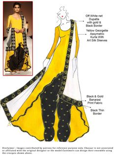DIY Yellow Georgette Patiala Suit
