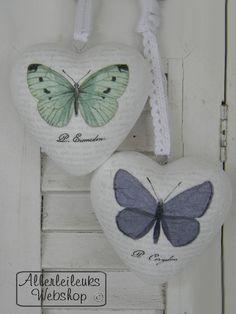 VOORBEELD Piepschuim harten vintage vlinders - Allerlei leuks nostalgische hobbymaterialen en decoratie