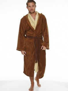 055cd5db66 Star Wars Jedi Outfit Official Lucasfilm Ltd Hooded Fleece Bathrobe