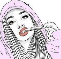 outline, outlines, tumblr girl, illustration, drawing