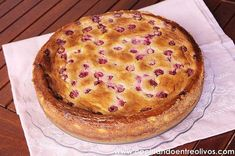 Tarta de queso, chocolate blanco y frambuesas