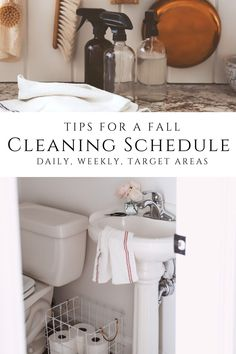 Clean House Schedule, Fall Cleaning, Natural Living, Cleaning Supplies, Counter, Simple, Baby, Natural Life, Cleaning Agent